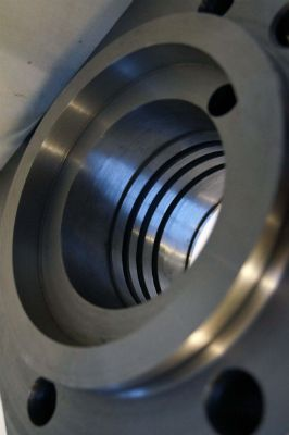 Counter bore and internal turned oil grooves