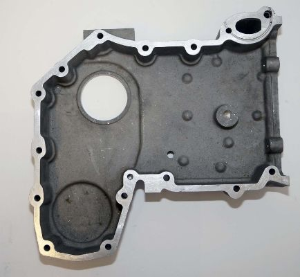 Timing cover internal machined casting