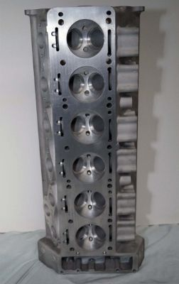 Cylinder Head, gasket face and hemispherical combustion chambers