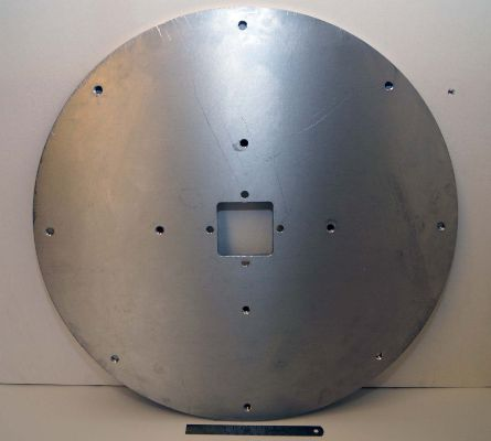 Aluminium plate drilled and tapped holes
